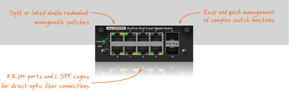 AxC-SWD5G: Dual 5 ports Gigabits manageable switch card